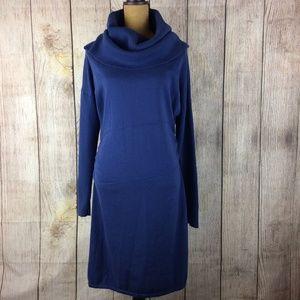 Athleta Long Sleeve Cowl Neck Sweater Dress Sz 1x